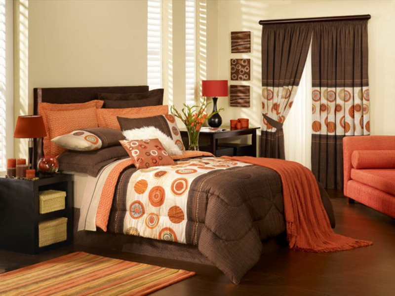 Fabulous orange bedroom decorating ideas and designs for - Burnt orange bedroom accessories ...