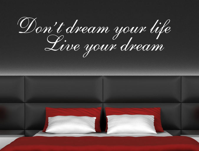 bedroom-wall-stickers Amazing and Catchy Wall Stickers for Home Decoration