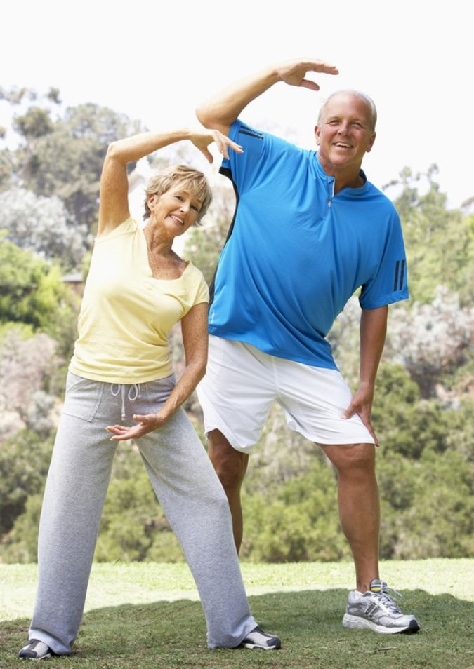 bigstock Senior Couple Exercising How to Lose Weight at Age +40