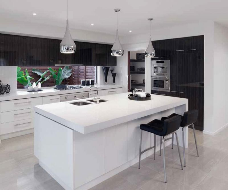 black-and-white Frugal And Stunning kitchen decoration ideas