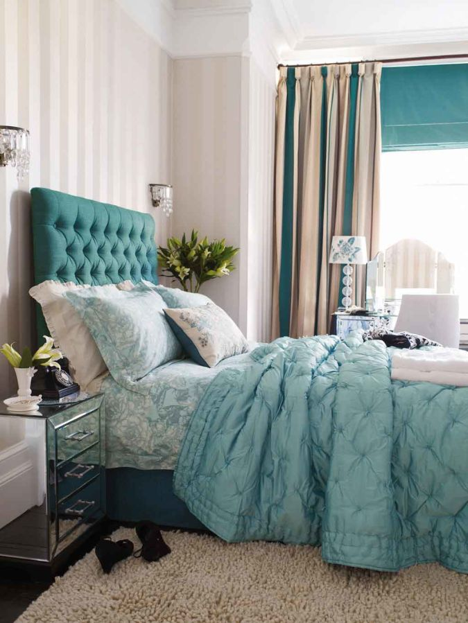 blue-bedroom-curtain 20+ Awesome Images for the Latest Models of Curtains