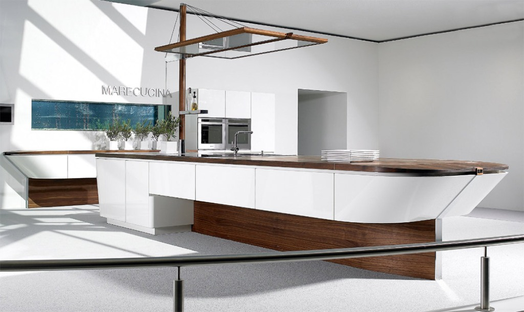 boat-shaped-kitchen-design Awesome German Kitchen Designs
