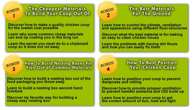 bonuses How to Build Your Own Inexpensive Chicken Coop Easily