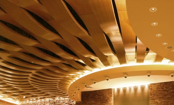 cerified-wooden-suspended-ceiling-fsc-certified Awesome and Dazzling Suspended Ceiling Decorations