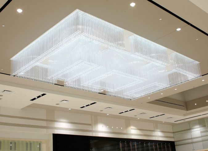 chandelier Awesome and Dazzling Suspended Ceiling Decorations