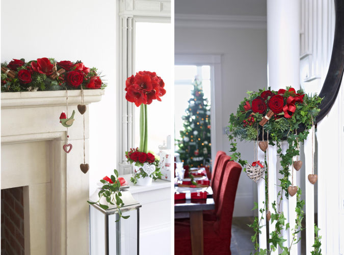 christmas-flowers How to Decorate Your Home Using Flowers