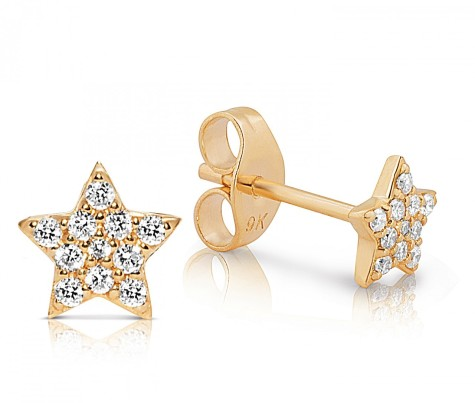 claire_aristides_fine_jewels_diamond_yellow_gold_star_earring_straight_1__26085.1359971008.1280.1280-475x403 How To Use Earrings With Straight Hair, Tied or with Veil