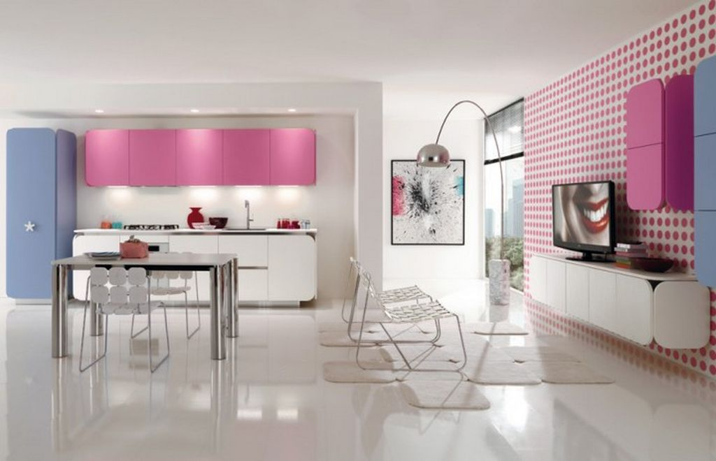 contemporary-bright-creativity-kitchen-colorful-and-fresh-design Awesome German Kitchen Designs