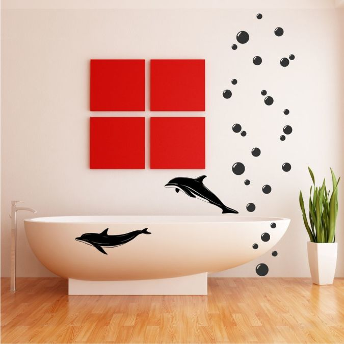 dolphins Amazing and Catchy Wall Stickers for Home Decoration