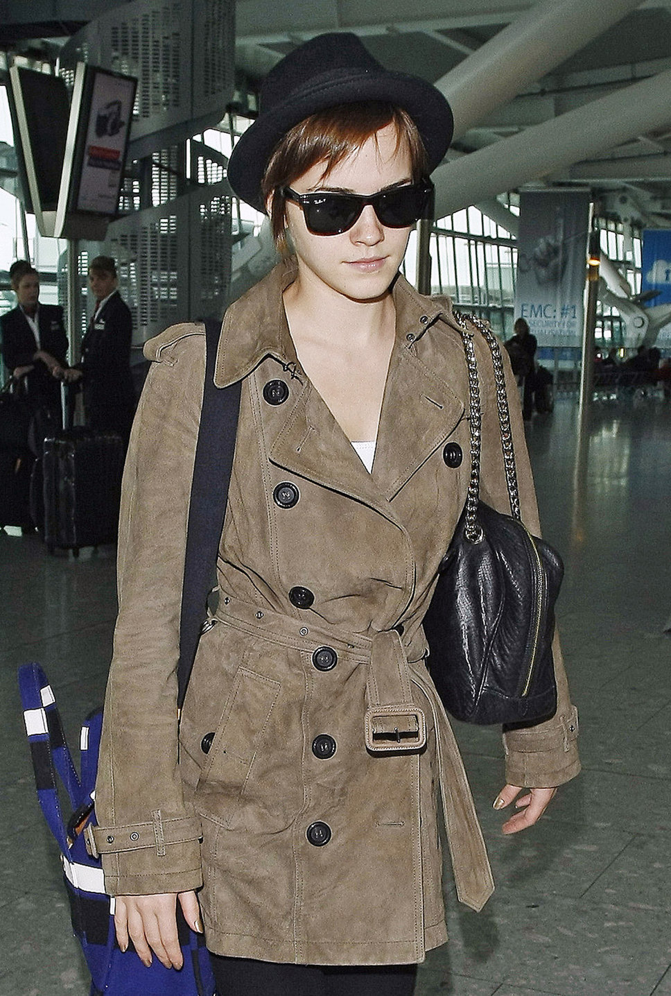 emma-watson-leather-burberry-trench-coat The Most Famous Celebrities Clothing Brands