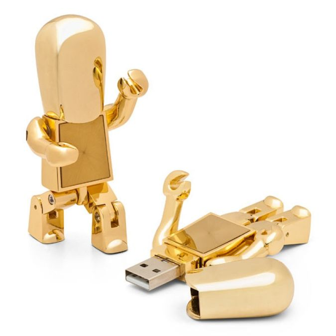 golden_robot_usb_drive Best 10 Robot Gift Ideas