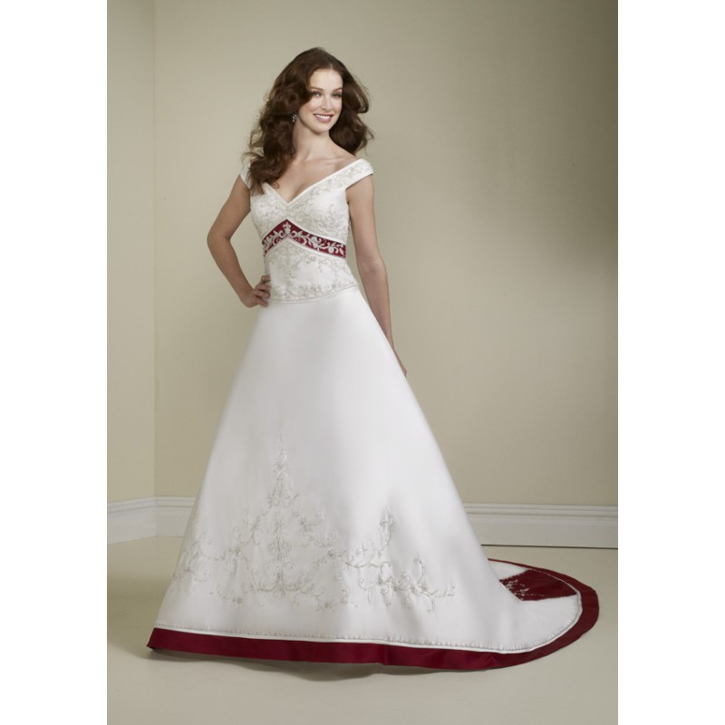 gorgeous-cap-sleeve-ball-gown-wedding-dresses-with-red-in-it. 70 Breathtaking Wedding Dresses to Look like a real princess