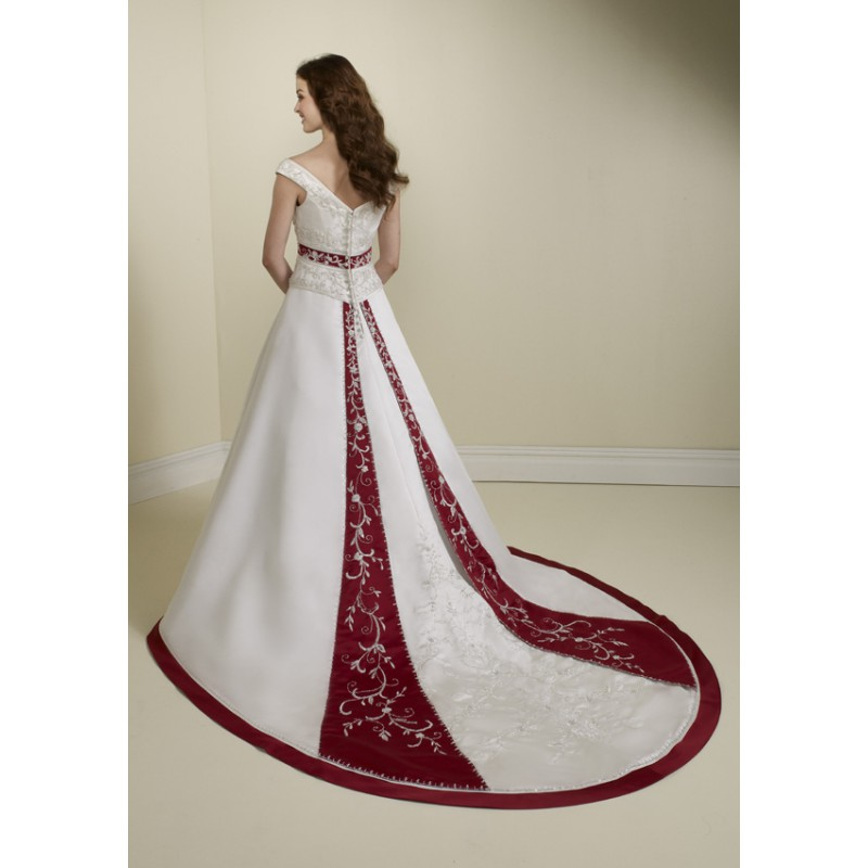 gorgeous-cap-sleeve-ball-gown-wedding-dresses-with-red-in-it 70 Breathtaking Wedding Dresses to Look like a real princess