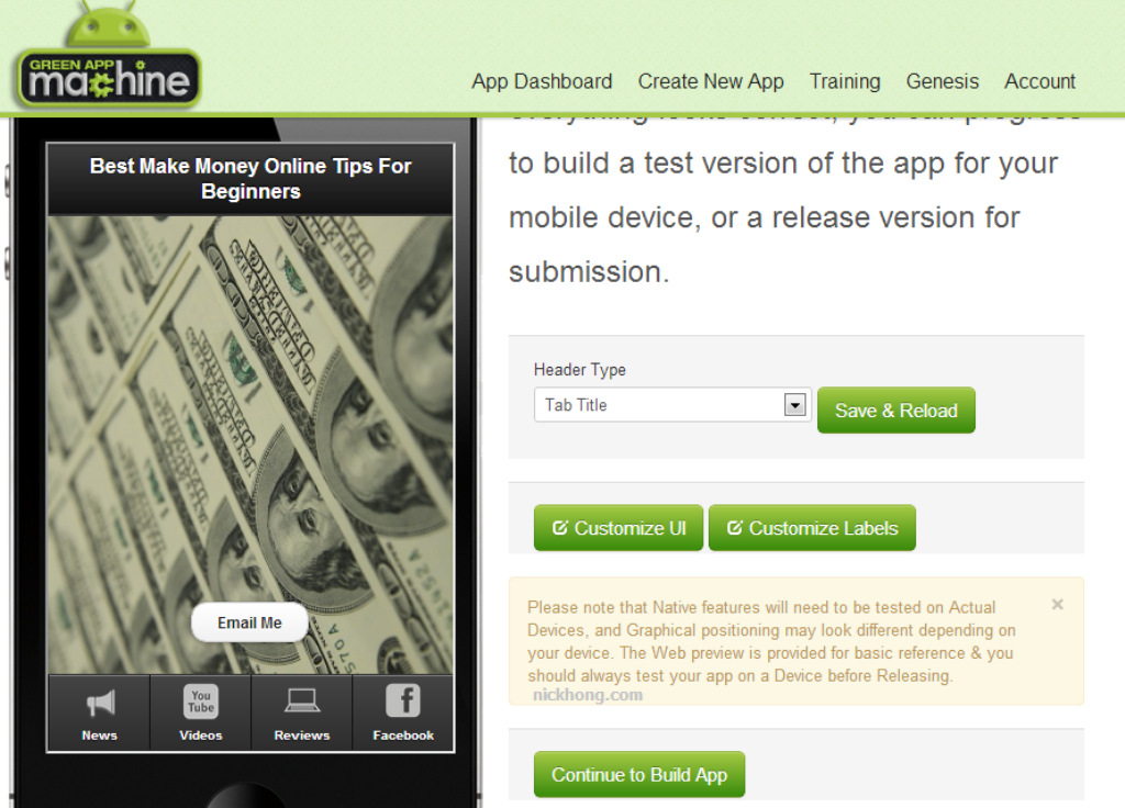 green-app-machine How Green App Machine Will Automate Building Your Own Mobile Apps Without Any Technical Knowledge