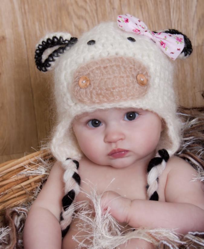 handmade-crochet-cow-hat 23 Most Creative Handmade Gift Ideas