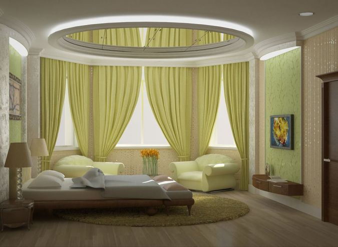 inspirational-modest-bedroom-with-yellow-curtains 20+ Awesome Images for the Latest Models of Curtains