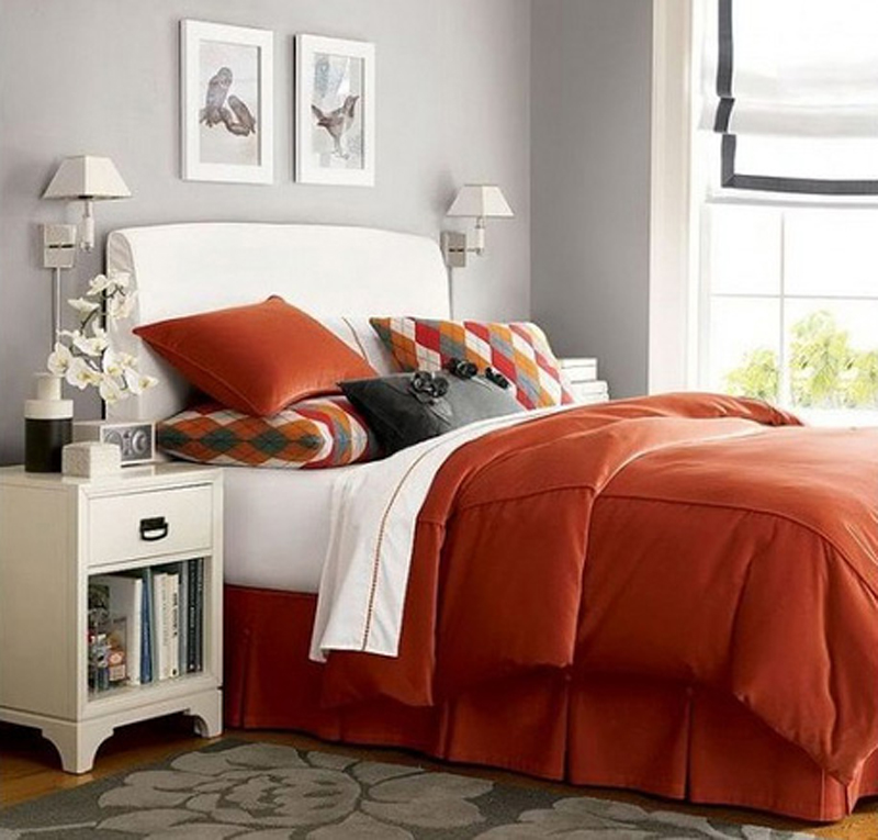 inspirational-orange-bedroom-decor Fabulous Orange Bedroom Decorating Ideas and Designs