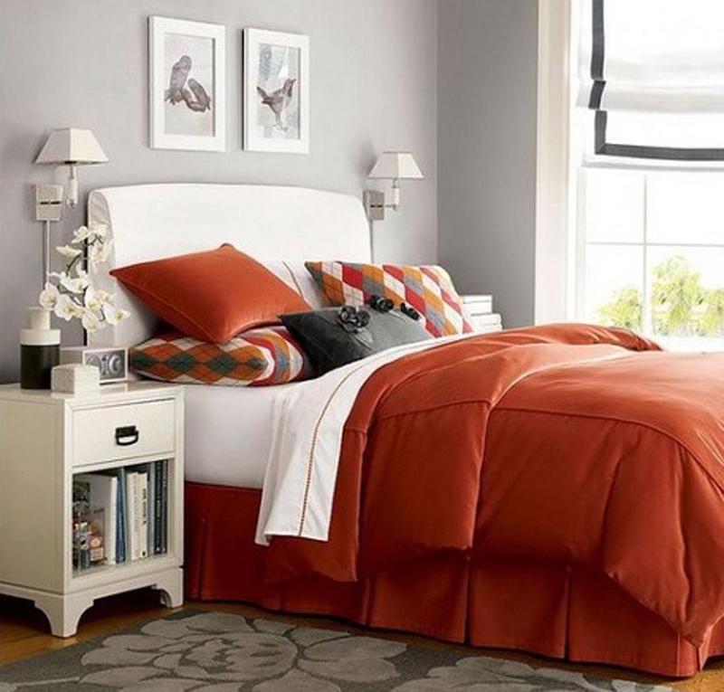 inspirational-orange-bedroom-decor Fabulous Orange Bedroom Decorating Ideas and Designs