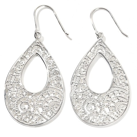 isharya-925-pear-shaped-drop-sterling-silver-earrings-d-20120514110957383179020-475x475 How To Use Silver Accessories In Different Occasions ?