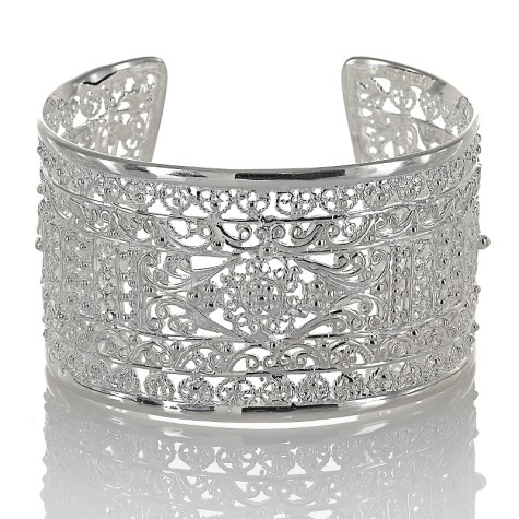 isharya-925-sterling-silver-filigree-cuff-bracelet-d-20120510154542983179019-475x475 How To Use Silver Accessories In Different Occasions ?