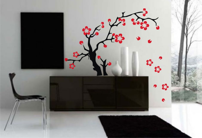 japanese-style-decor-apartments-i-like-blog Amazing and Catchy Wall Stickers for Home Decoration