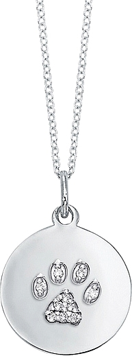 kc-designs-14k-white-gold-diamond-disc-necklace-with-paw-print-kc-n1323-1-C.png Dress Your Dog In Jewels