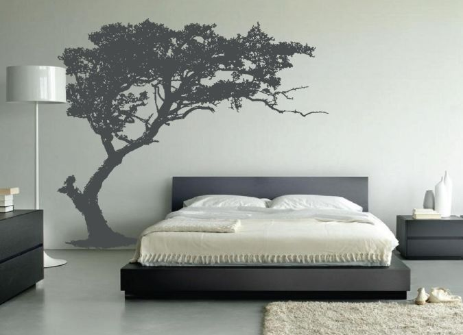 leaning-tree-wall-decal-bedroom-decor Amazing and Catchy Wall Stickers for Home Decoration