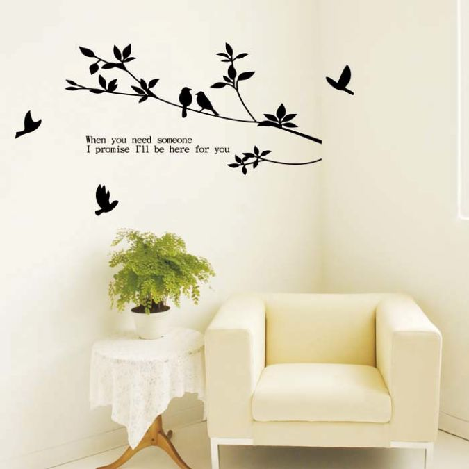 love_themed_tree_branch_birds_pattern_home_decor_wall_sticker_5 Amazing and Catchy Wall Stickers for Home Decoration