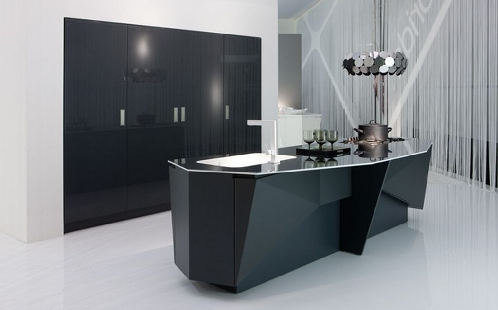 lovely-black-lacquer-luxury-futuristic-italian-kitchen-design Breathtaking And Stunning Italian Kitchen Designs