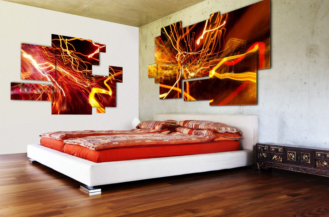 low_bed_concrete_wall Fabulous Orange Bedroom Decorating Ideas and Designs