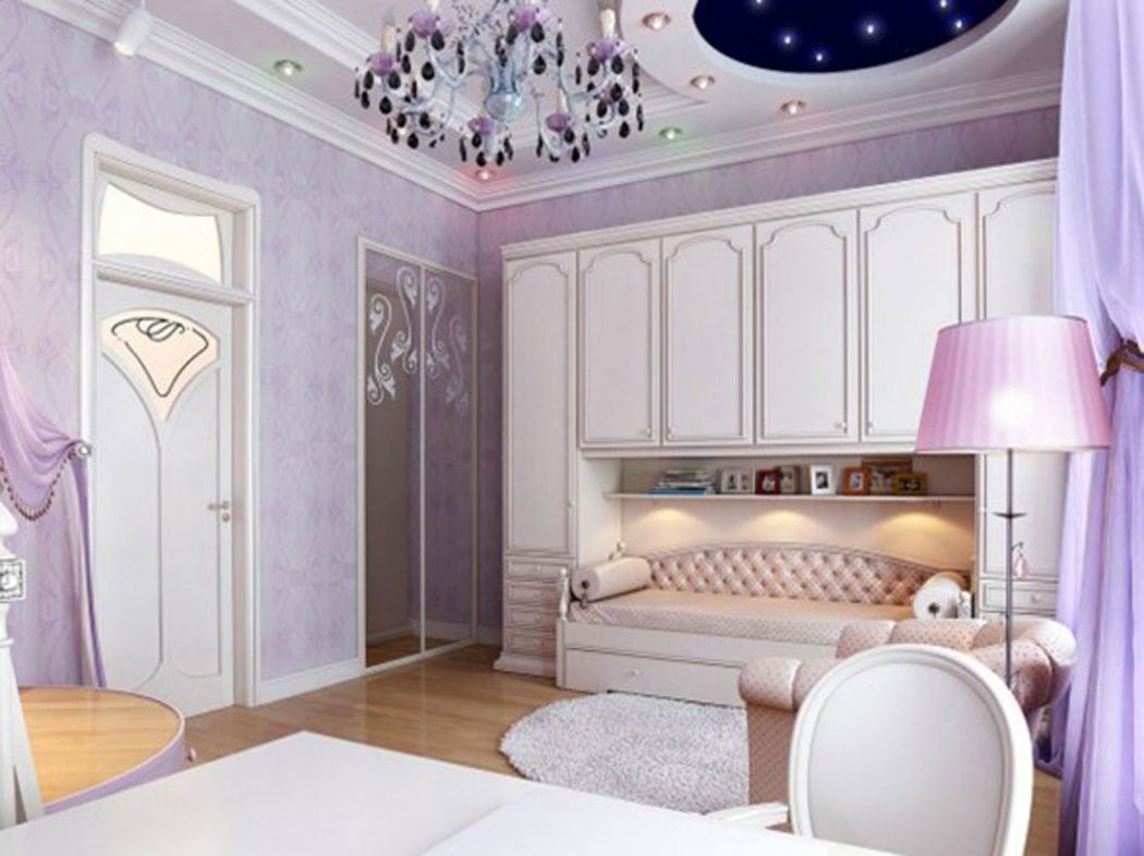 luxury-purple-bedroom-decor Girls' Bedroom Decoration Ideas and Tips
