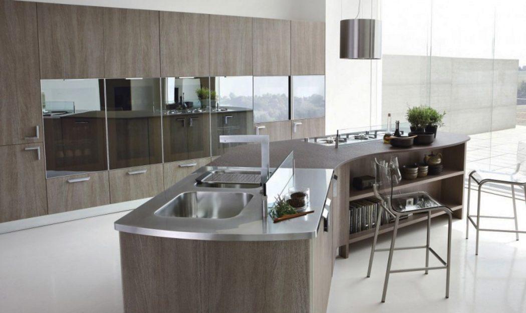 metal-top-design-of-Italian-kitchen-design Breathtaking And Stunning Italian Kitchen Designs
