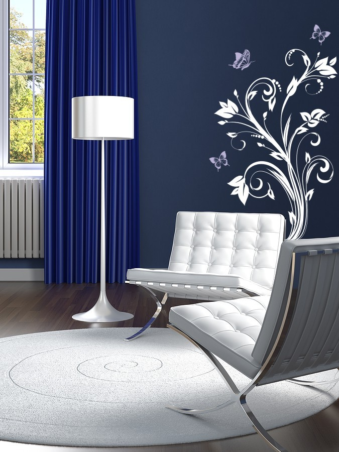 modern-and-urban-vinyl-wall-decals-flowers-and-butterflies-vinyl-decal-wall-art-picture-01 Amazing and Catchy Wall Stickers for Home Decoration