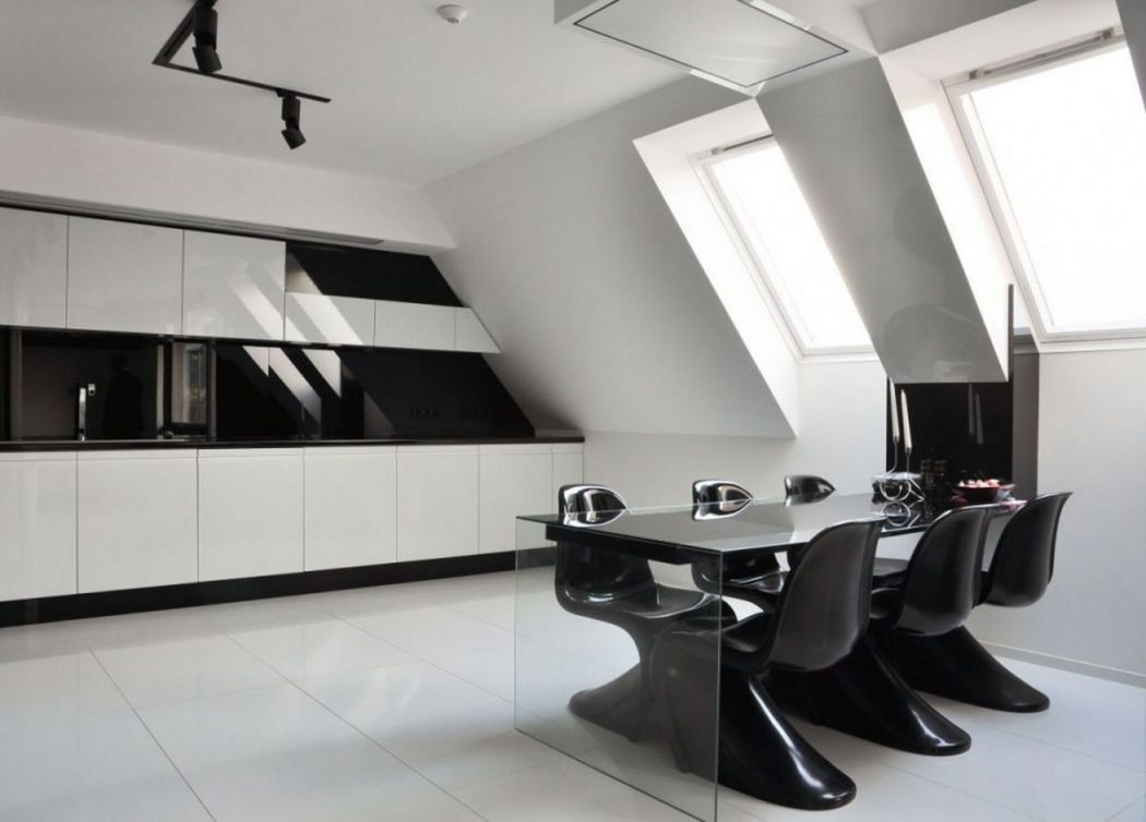 modern-black-and-white-kitchen-decor Frugal And Stunning kitchen decoration ideas