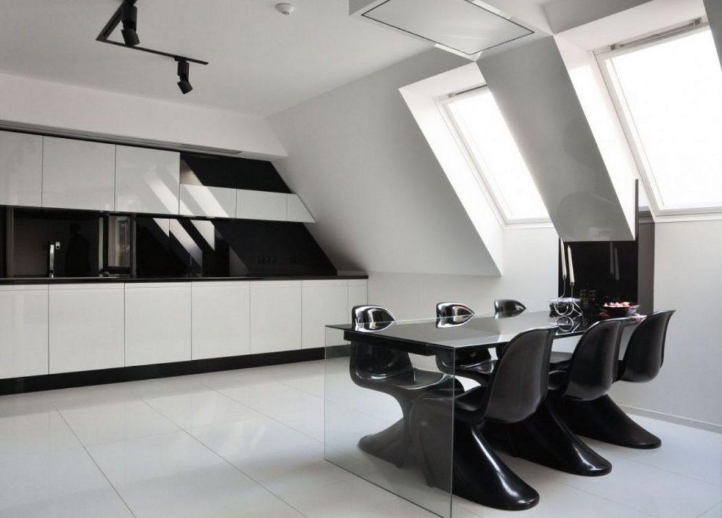 modern-black-and-white-kitchen-decor Frugal And Stunning kitchen decoration ideas