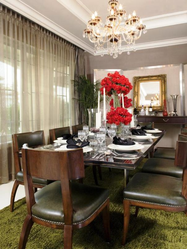 modern classical victorian elegant dining room