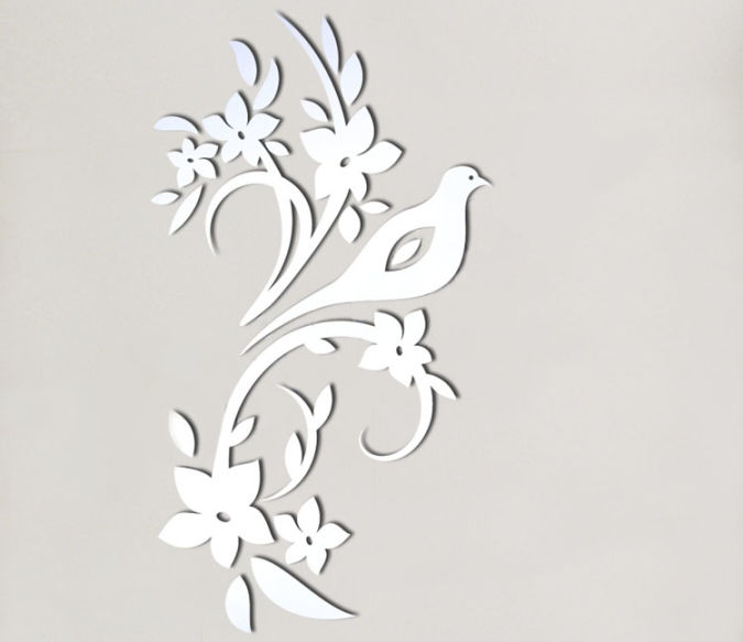 oiseau_miroir_04-z Amazing and Catchy Wall Stickers for Home Decoration