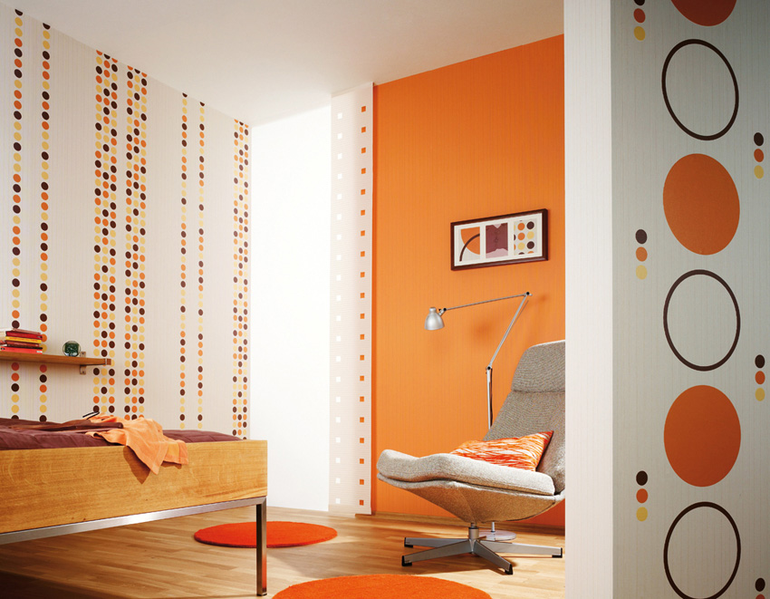 orange-and-white Fabulous Orange Bedroom Decorating Ideas and Designs