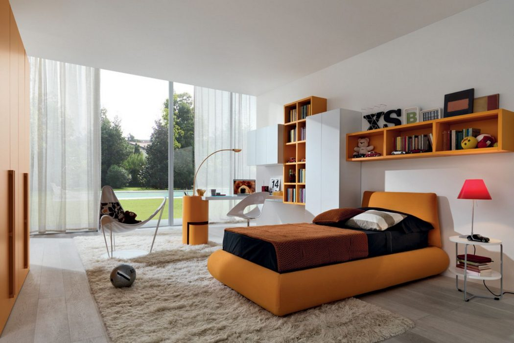 orange-bedroom-designs-ideas-for-Kid Fabulous Orange Bedroom Decorating Ideas and Designs