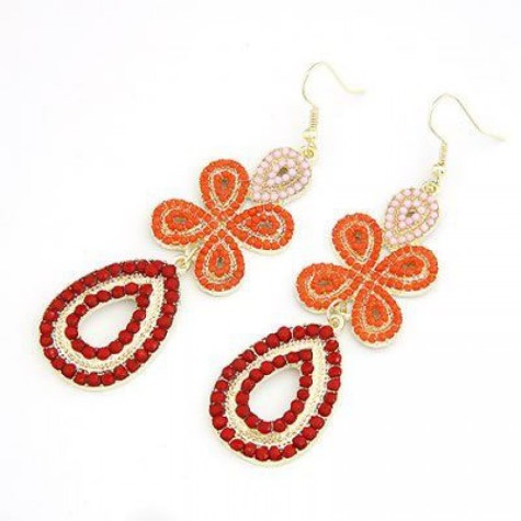 orange-splash-earrings-1-900x900-475x475 How To Use Earrings With Straight Hair, Tied or with Veil