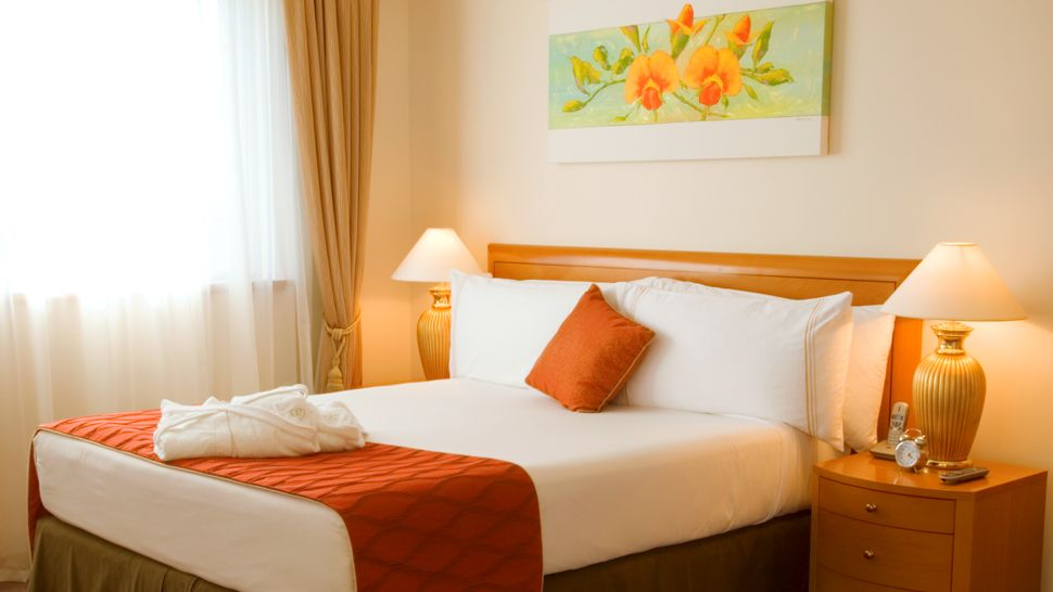 orange-white-bedroom Fabulous Orange Bedroom Decorating Ideas and Designs