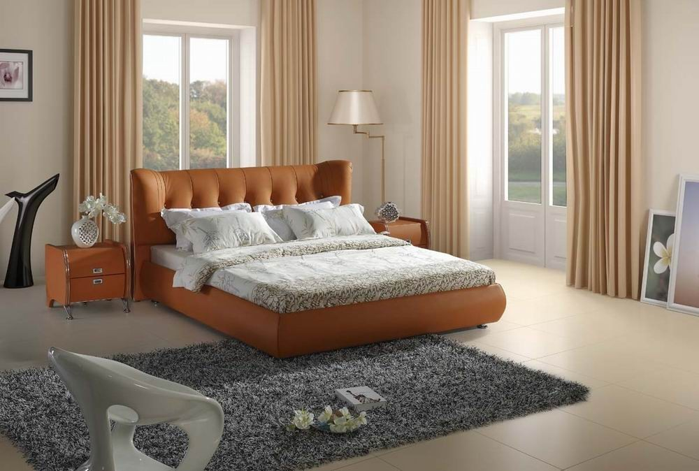orangebeige Fabulous Orange Bedroom Decorating Ideas and Designs