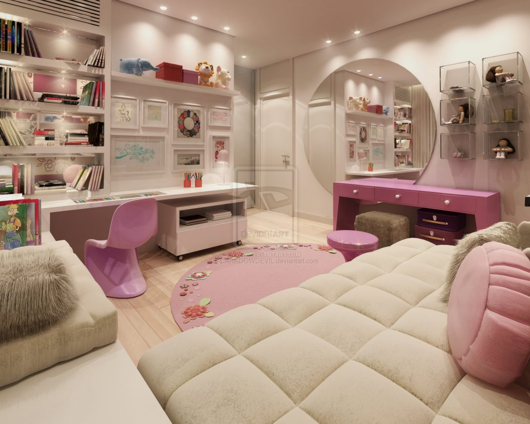 pink-teen-rooms-with-girls-bedroom-Darkdowdevil-teen-room-designs Girls' Bedroom Decoration Ideas and Tips