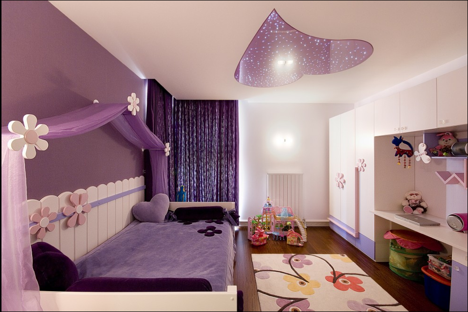 purple-bedroom-designs-for-teenage-girls Girls' Bedroom Decoration Ideas and Tips