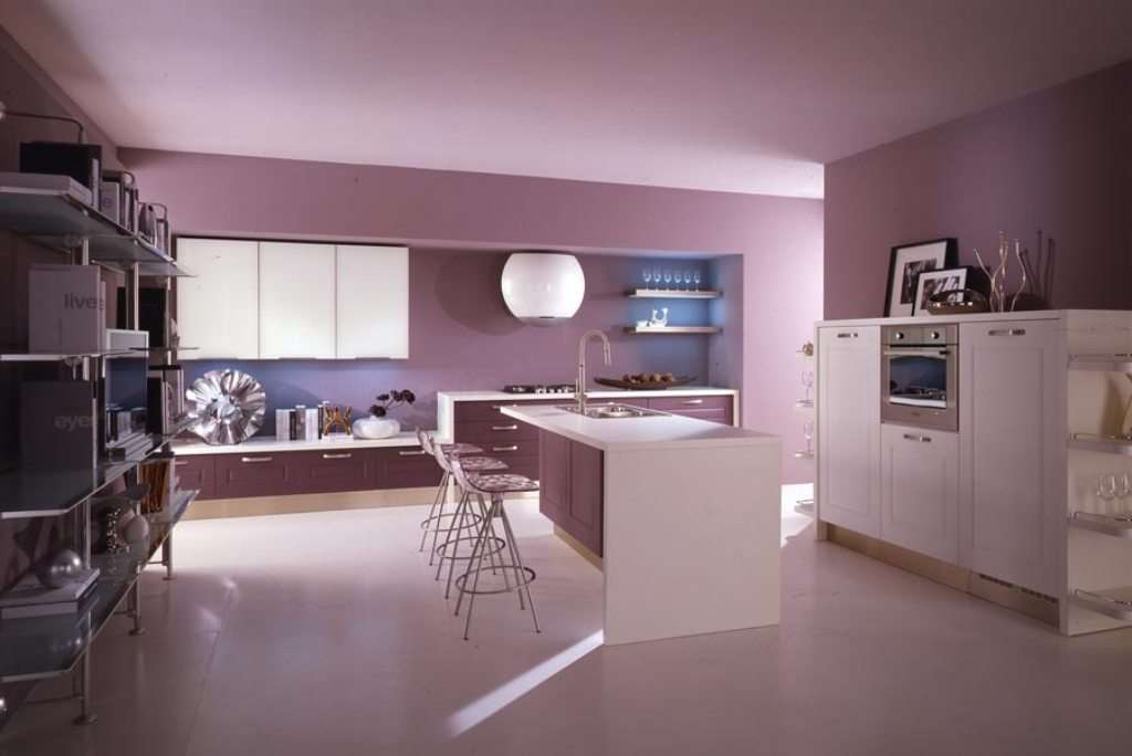purple-kitchens-photo-6-modern-violet-and-pink-kitchen-by-cucine-lube Awesome German Kitchen Designs
