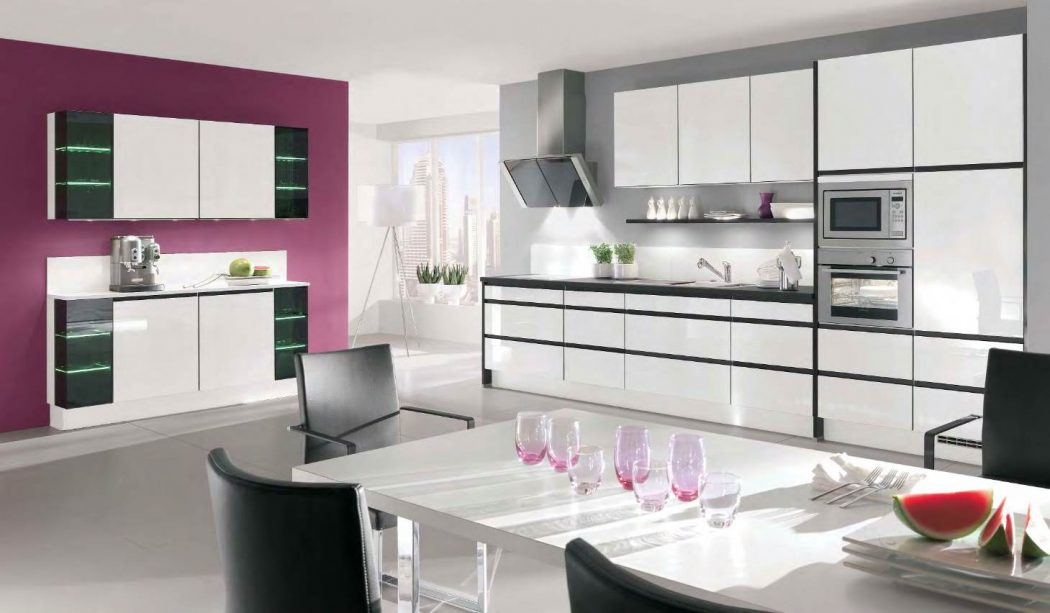 purplewhite-and-gray Awesome German Kitchen Designs