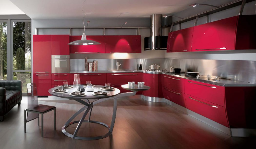 red-kitchen Breathtaking And Stunning Italian Kitchen Designs
