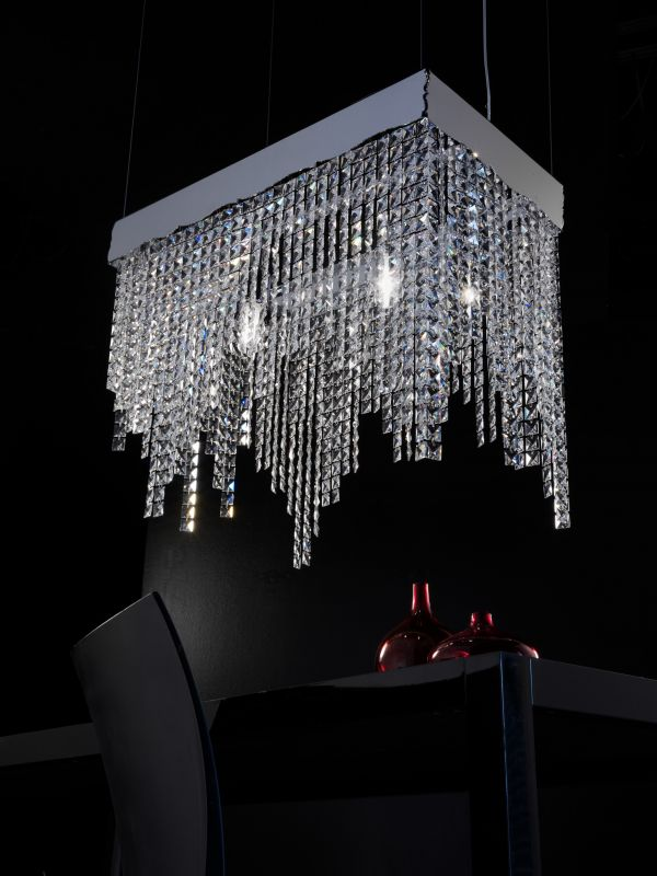 small-crystals Awesome and Dazzling Suspended Ceiling Decorations