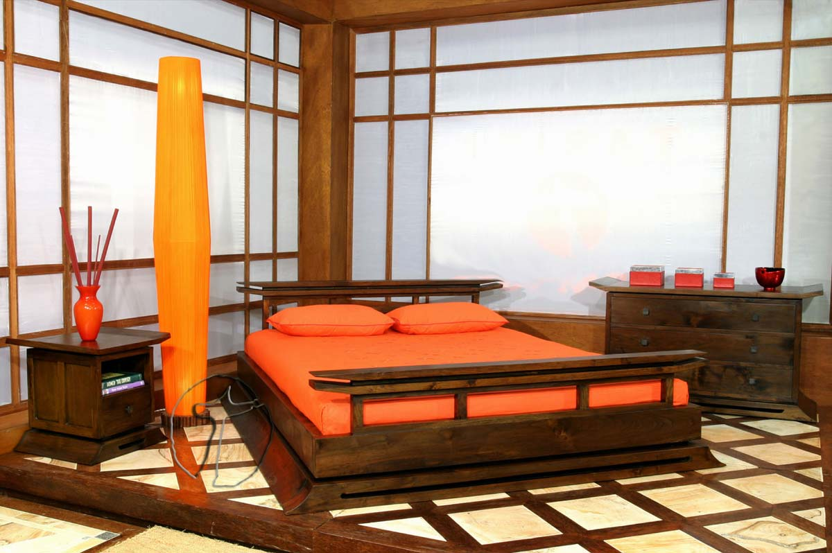 spectacular-minimalist-bedroom-orange Fabulous Orange Bedroom Decorating Ideas and Designs