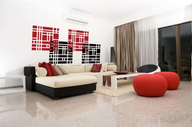 squares-modern-wall-decal-wall-sticker Amazing and Catchy Wall Stickers for Home Decoration